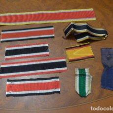 Militaria: * GRAN LOTE DE CINTA DE MEDALLA ALEMANA, CINTAS PARA MEDALLAS DE ALEMANIA, MUCHA VARIEDAD. ZX. Lote 84296324