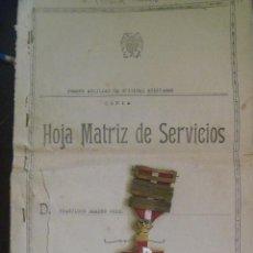 Militaria: MEDALLA CRUZ DEL MERITO MILITAR CON 5 BARRITAS , EPOCA DE FRANCO. CON HOJA SERVICIO DEL DUEÑO. Lote 84953308