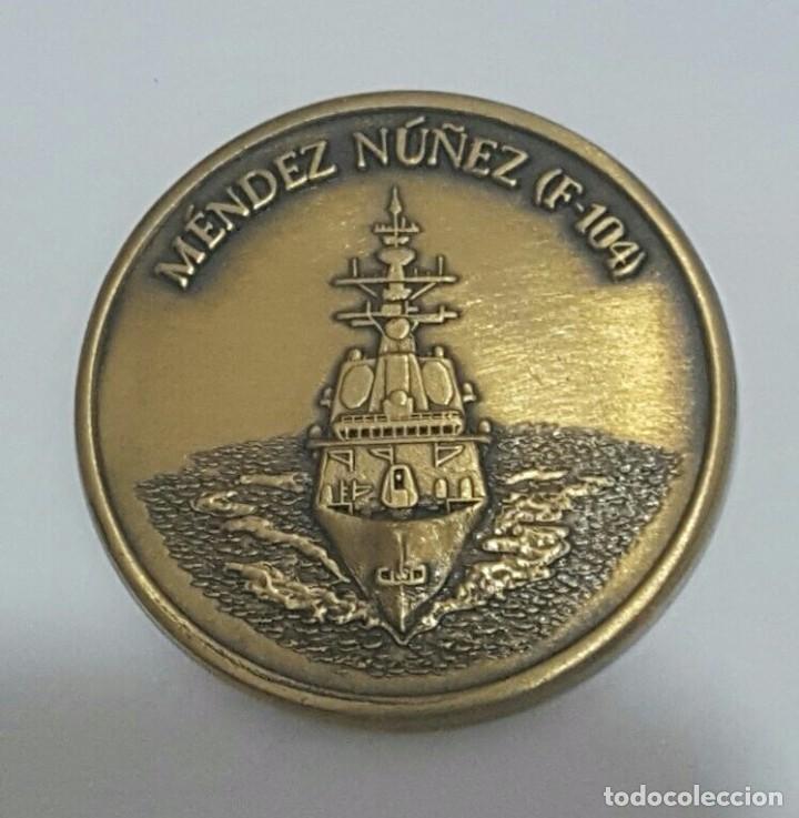 MEDALLA PRUEBAS DE COMBATE FRAGATA F-104 MÉNDEZ NÚÑEZ (Militar - Medallas Españolas Originales )