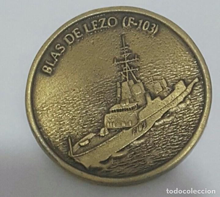 MEDALLA PRUEBAS DE COMBATE FRAGATA F -103 BLAS DE LEZO (Militar - Medallas Españolas Originales )