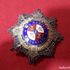 Militaria: ANTIGUA MEDALLA CONDECORACION CRUZ DE GUERRA AL MERITO EN CAMPAÑA- ORIGINAL- . Lote 85916384