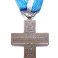 Militaria: ITALIA: CRUZ AL MÉRITO DE GUERRA. (MEDALLA: VITTORIO EMANUELE III) 1918 -1946. Lote 86184528