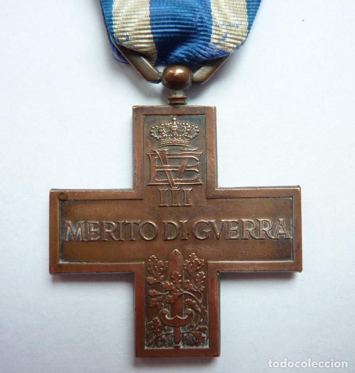 ITALIA: CRUZ AL MÉRITO DE GUERRA. (MEDALLA: VITTORIO EMANUELE III) 1918 -1946 (Militar - Medallas Extranjeras Originales)