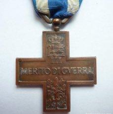 Militaria: ITALIA: CRUZ AL MÉRITO DE GUERRA. (MEDALLA: VITTORIO EMANUELE III) 1918 -1946. Lote 86224308