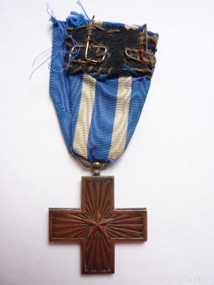 Militaria: Italia: Cruz al Mérito de Guerra. (Medalla: Vittorio Emanuele III) 1918 -1946 - Foto 2 - 86224308