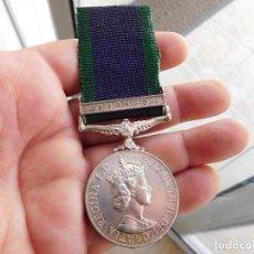 Militaria: MEDALLA INGLESA. FOR CAMPAIGN SERVICE. BORNEO. ELIZABETH II. Lote 86386944
