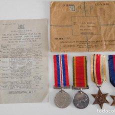 Militaria: LOTE DE MEDALLAS INGLESAS PARA TROPAS SUDAFRICANAS. GEORGE VI 2ª GUERRA MUNDIAL. Lote 86391492
