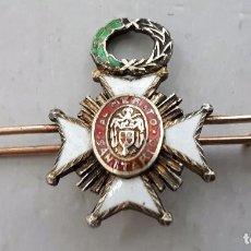 Militaria: MINIATURA MEDALLA CRUZ AL MÉRITO SANITARIO ÉPOCA FRANCO.. Lote 86495656