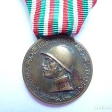 Militaria: ITALIA: MEDALLA CONMEMORATIVA DE LA PRIMERA GUERRA MUNDIAL - ACUÑADA EN EL BRONCE ENEMIGO. Lote 87293772