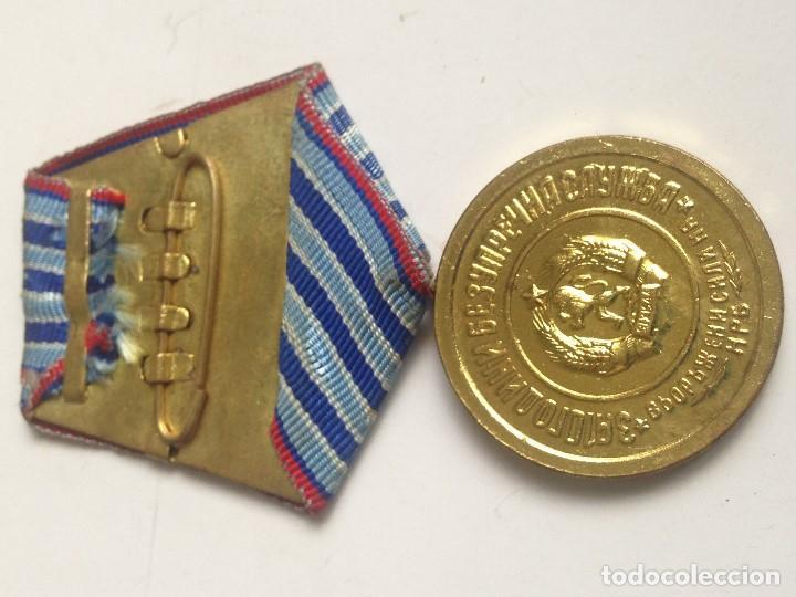 Militaria: Medalla 1 Clase años de servicio en Fuerzas Armadas del Ejército Búlgaro. Bulgaria Comunista - Foto 2 - 87436028