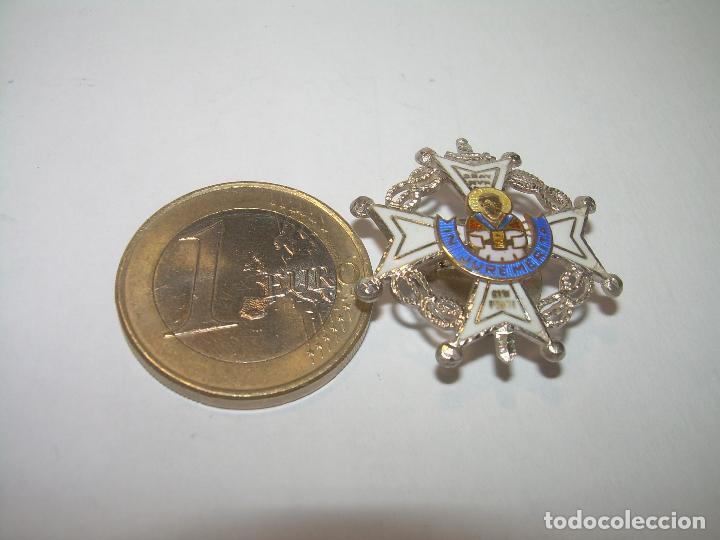 Militaria: ANTIGUA MEDALLA DE PLATA ESMALTADA...DE SOLAPA..PERFECTO ESTADO DE CONSERVACION. - Foto 4 - 144209116
