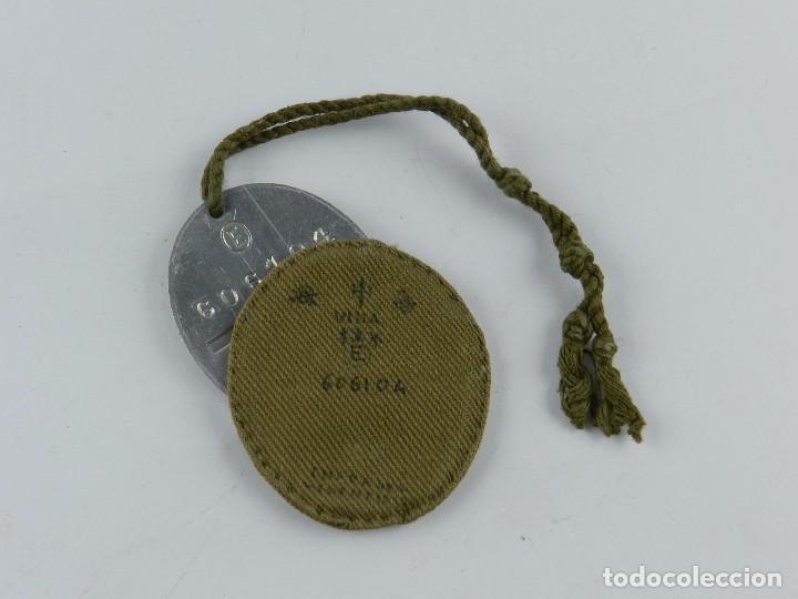 PLACA DE IDENTIFICACIÓN SOLDADOS NACIONALES DEL EJÉRCITO DE FRANCO EN LA GUERRA CIVIL ESPAÑOLA (1936 (Militar - Medallas Españolas Originales )