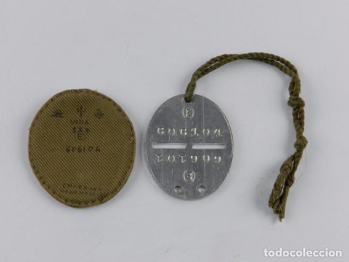 Militaria: Placa de identificación soldados nacionales del ejército de Franco en la guerra civil española (1936 - Foto 2 - 88090852