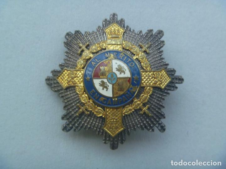 GUERRA CIVIL : GRAN PLACA DEL MERITO MILITAR EN CAMPAÑA . EPOCA DE FRANCO (Militar - Medallas Españolas Originales )