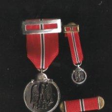Militaria: CONJUNTO CONDECORACION CAMPAÑA DE INVIERNO DIVISION AZUL-IMOSTEN. Lote 89726876