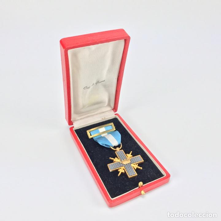 Militaria: Cruz de Guerra. Modelo 1942. En su caja. - Foto 2 - 212771447