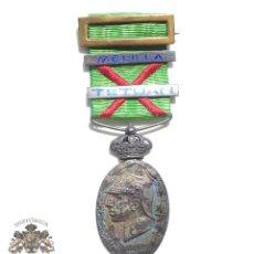 Militaria: MEDALLA CAMPAÑA EN ÁFRICA - MARRUECOS - PASADOR TETUAN Y MELILLA ESMALTADOS. Lote 89760488