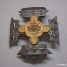 Militaria: PLACA DE LA NOBLEZA DE CLAROS DE MONTES-MADRID (SIN CATALOGAR), PLACA METAL PLATEADO GRANDE.. Lote 89843704