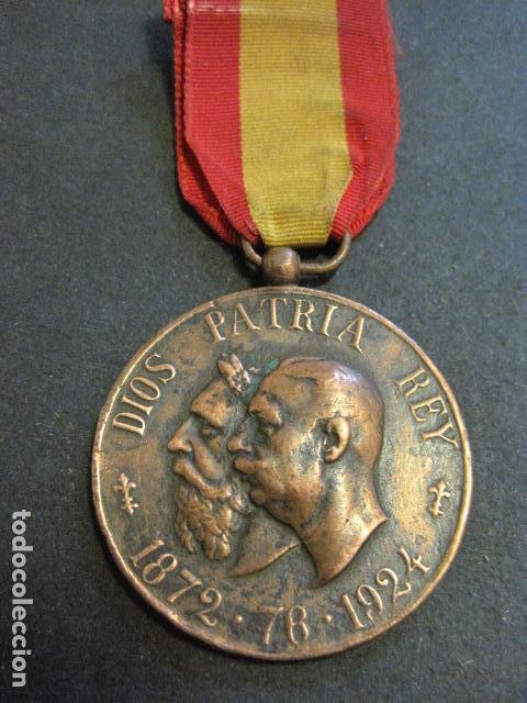 Militaria: MEDALLA CARLISMO - VETERANOS DE LA LEGITIMIDAD DIOS PATRIA REY 1872-76- 1924-VER FOTOS-(V- 11.640) - Foto 2 - 89853048
