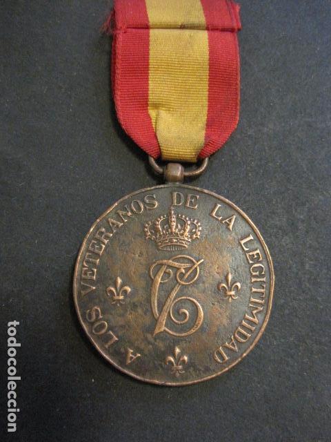 Militaria: MEDALLA CARLISMO - VETERANOS DE LA LEGITIMIDAD DIOS PATRIA REY 1872-76- 1924-VER FOTOS-(V- 11.640) - Foto 4 - 89853048