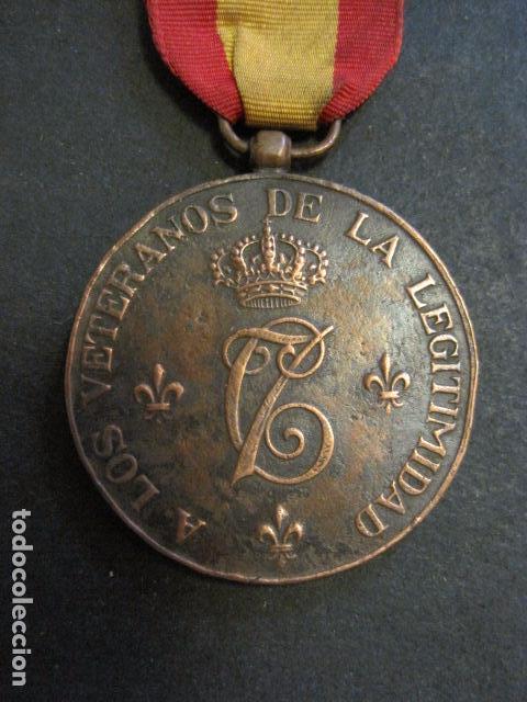 Militaria: MEDALLA CARLISMO - VETERANOS DE LA LEGITIMIDAD DIOS PATRIA REY 1872-76- 1924-VER FOTOS-(V- 11.640) - Foto 5 - 89853048