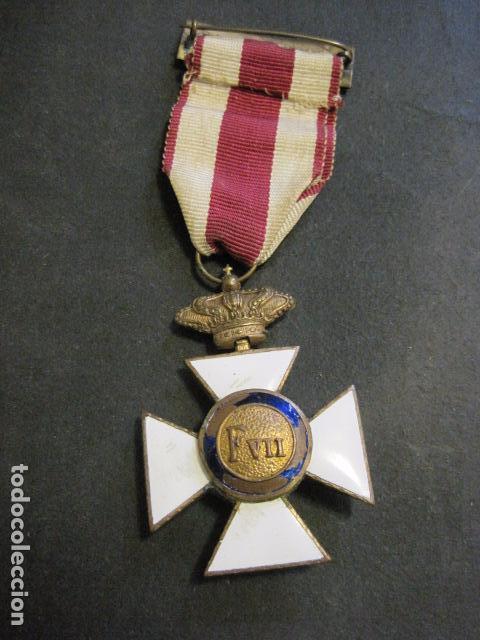 MEDALLA SAN HERMENEGILDO - CONSTANCIA MILITAR- FERNANDO VII - VER FOTOS-(V- 11.641) (Militar - Medallas Españolas Originales )