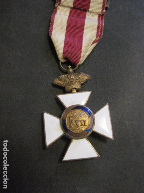 Militaria: MEDALLA SAN HERMENEGILDO - CONSTANCIA MILITAR- FERNANDO VII - VER FOTOS-(V- 11.641) - Foto 2 - 89853380