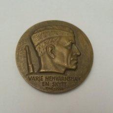 Militaria: MEDALLA CAMPEONATO DE TIRO SUECIA, VARGE HEMVARNSMAN EN SKYTT 1940-1965. Lote 89869784