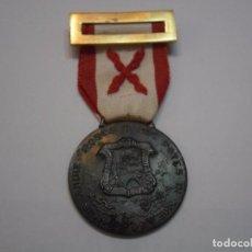 Militaria: MEDALLA DE BILBAO, GUERRA CIVIL 1936-39, MODELO EN HIERRO ORIGINAL, CINTA BORDADA DE EPOCA Y PASADOR. Lote 89923036