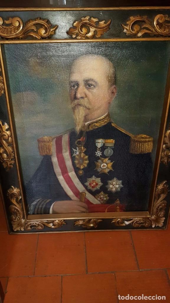 0LEO ENMARCADO DE APROX ,70 POR 50 CM (Militar - Medallas Españolas Originales )