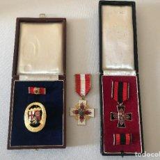 Militaria: LOTE DE 3 INSIGNIAS MEDALLAS, DE BOMBERO, ALEMANAS POST WWII, HITLER, TERCER REICH, NAZI. Lote 91744935
