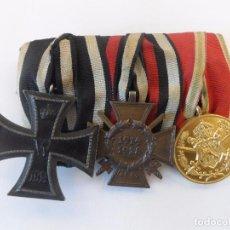 Militaria: PASADOR DE GALA CRUZ HIERRO , HINDENBURG Y BULGARA 1914-18 MARCAJES K.O. Y 84 RV.PFORZHEIM III REICH. Lote 92108445