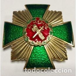 PLACA AL MÉRITO DE LA GUARDIA CIVIL CON DISTINTIVO ROJO (Militar - Medallas Españolas Originales )