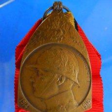 Militaria: BÉLGICA. MEDALLA CONMEMORATIVA DE LA CAMPAÑA. 1914 – 1918. Lote 92214245