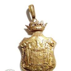 Militaria: GRAN MEDALLÓN JUSTICIA - PODER JUDICIAL - ÉPOCA DE FRANCO EN PLATA DORADA . Lote 92902395