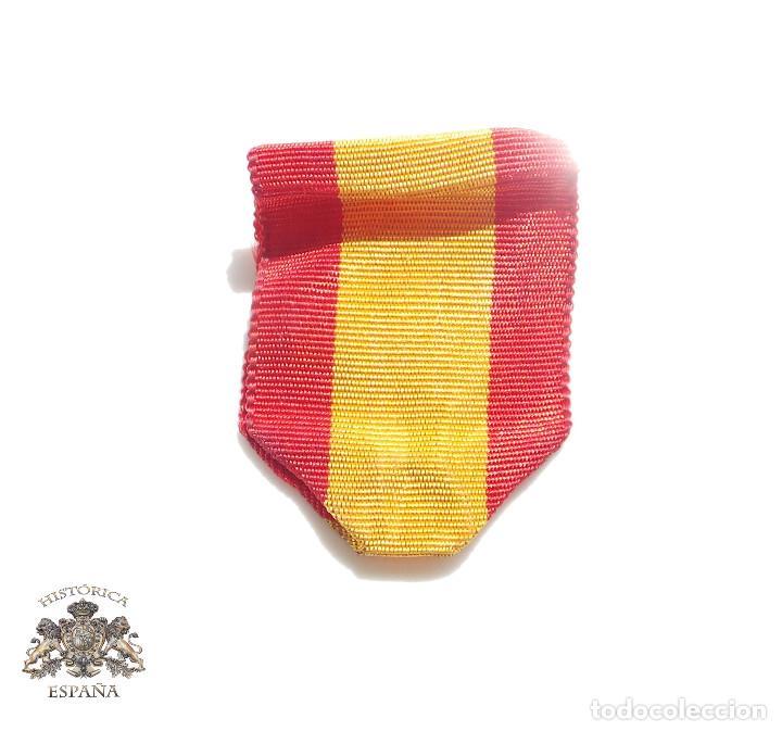 CINTA ORIGINAL BANDERA ESPAÑOLA 3 CM - MÉRITO NAVAL (Militar - Cintas de Medallas y Pasadores)
