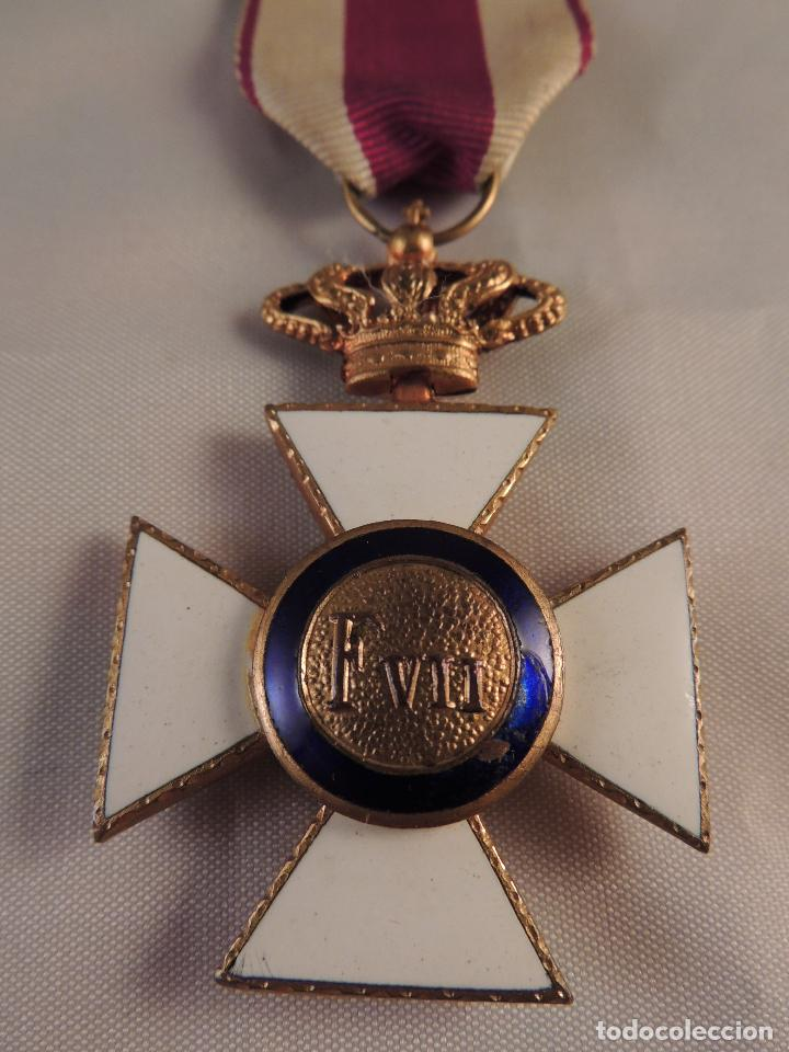 Militaria: MEDALLA MILITAR ORDEN DE SAN HERMENEGILDO PREMIO A LA CONSTANCIA FERNANDO VII - Foto 4 - 93773955