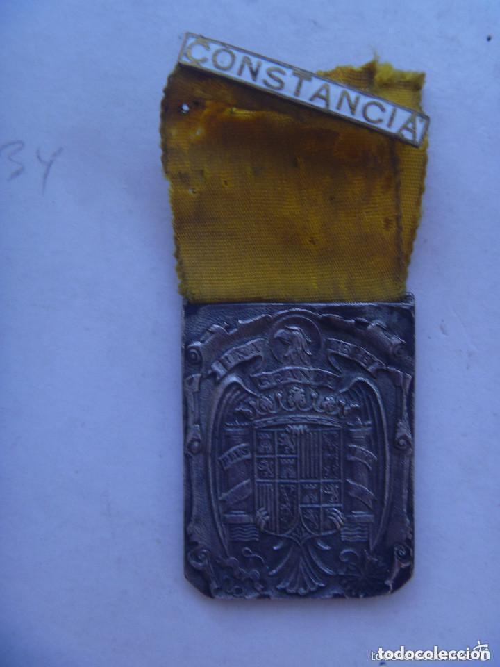 GUERRA CIVIL : MEDALLA DE LAS DAMAS AUXILIARES DE SANIDAD MILITAR , PASADOR CONSTANCIA. (Militar - Medallas Españolas Originales )