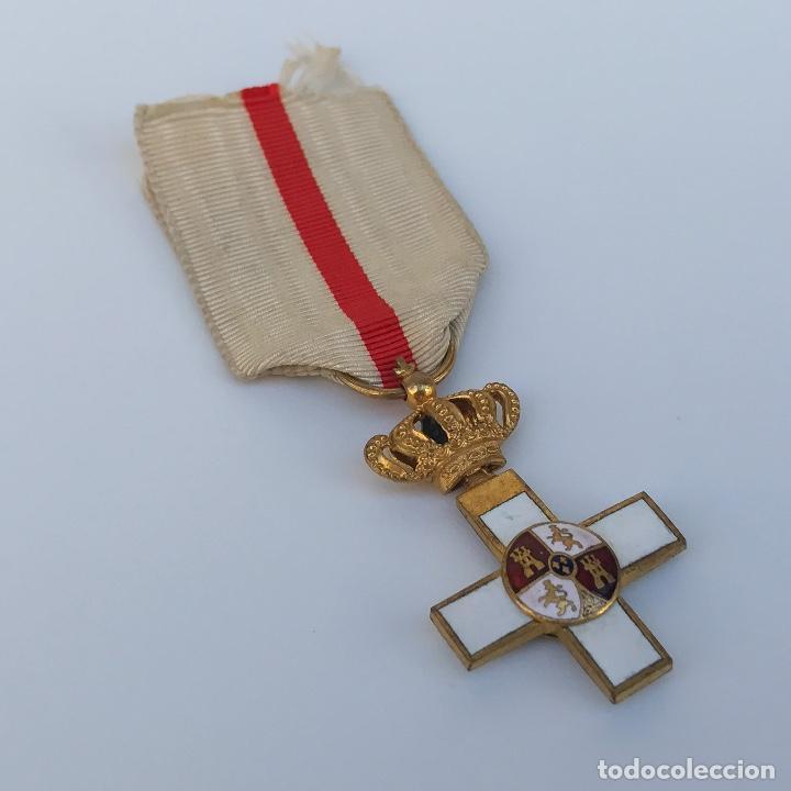 Militaria: Cruz de Merito Militar. Distintivo Blanco. Tamaño princesa. De 1860. - Foto 2 - 275933658
