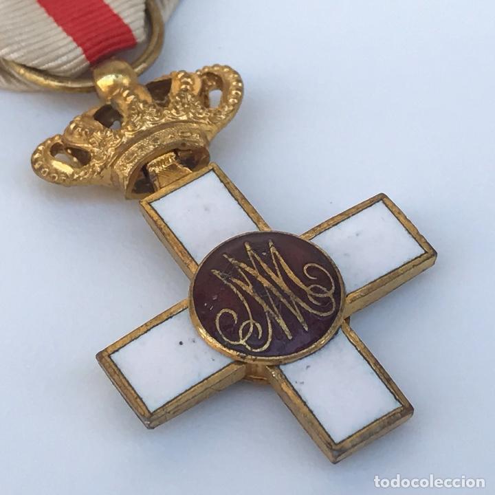 Militaria: Cruz de Merito Militar. Distintivo Blanco. Tamaño princesa. De 1860. - Foto 3 - 275933658