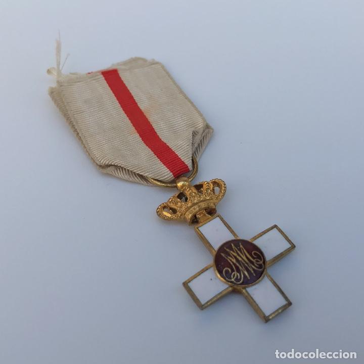 Militaria: Cruz de Merito Militar. Distintivo Blanco. Tamaño princesa. De 1860. - Foto 4 - 275933658