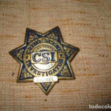 Militaria: PLACA INVESTIGADOR CSI EE.UU INSIGNIA BROCHE. 6,5 CMS RAFAEL METALICA. Lote 94527386