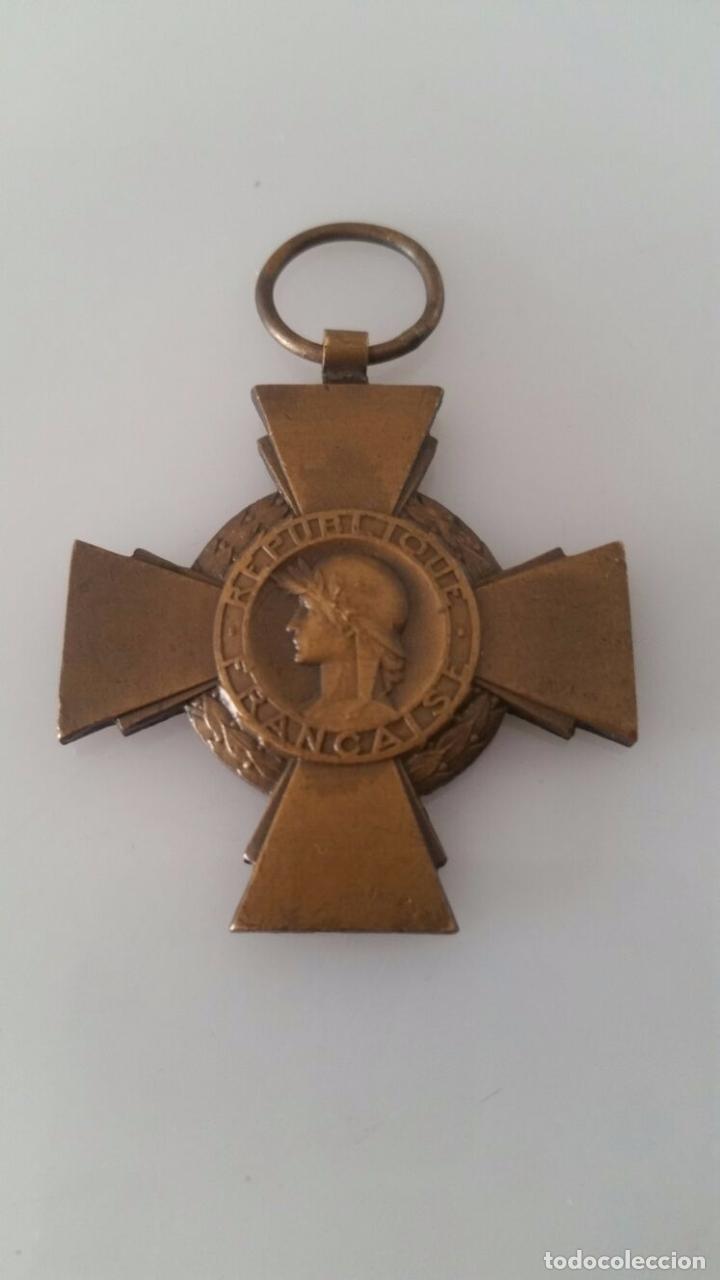 MEDALLA MILITAR - REPÚBLICA FRANCESA - 1º GUERRA MUNDIAL - CROIX DU COMBATTANT (Militar - Medallas Internacionales Originales)