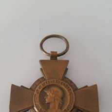 Militaria: MEDALLA MILITAR - REPÚBLICA FRANCESA - 1º GUERRA MUNDIAL - CROIX DU COMBATTANT. Lote 94560491