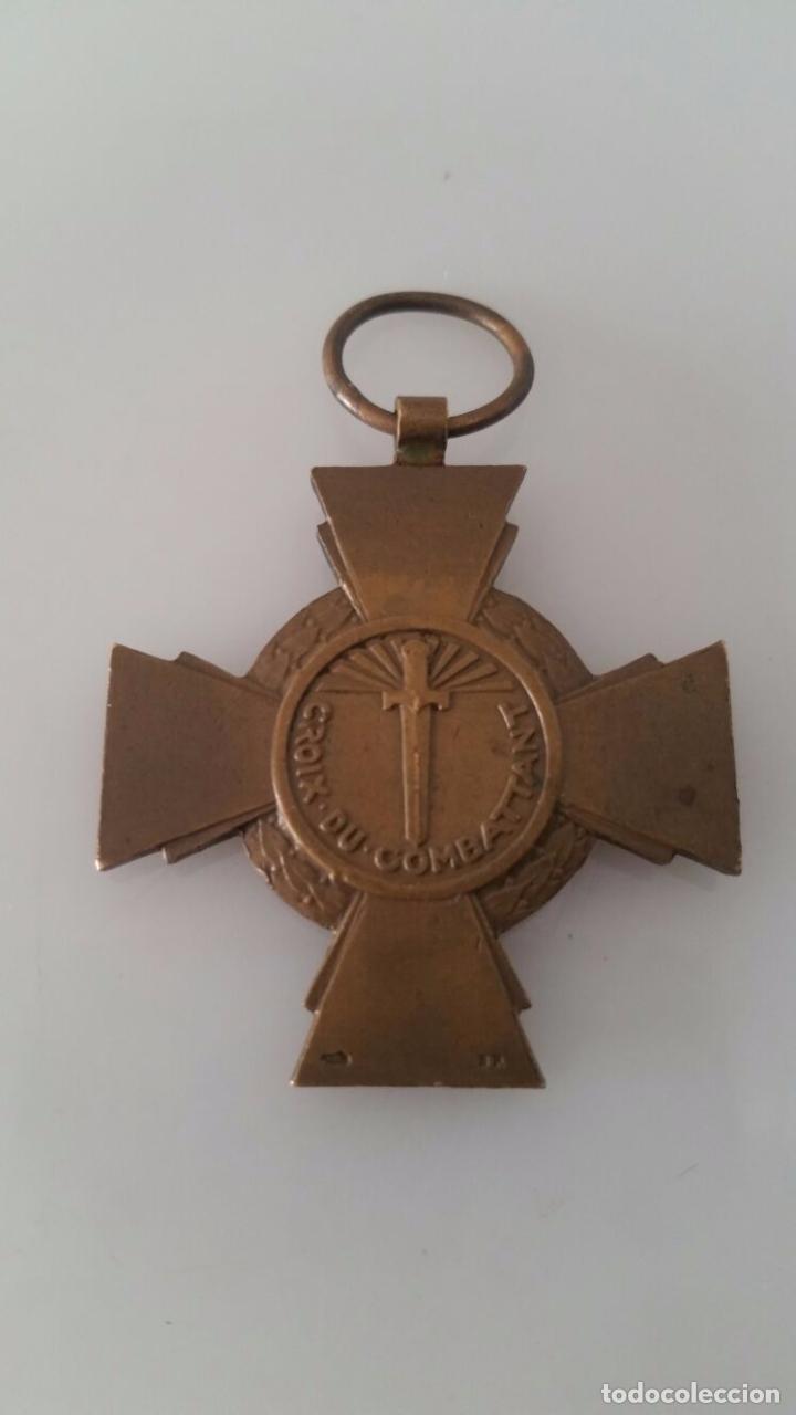 Militaria: Medalla militar - República Francesa - 1º Guerra Mundial - Croix du combattant - Foto 2 - 94560491