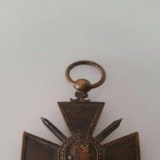 Militaria: MEDALLA FRANCESA CRUZ DE GUERRA 1914 1916 - PRIMERA GUERRA MUNDIAL. Lote 94562559