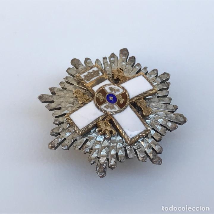Militaria: Placa al Mérito Militar. Época transición 1976 viene con miniatura en plata. - Foto 4 - 95147711
