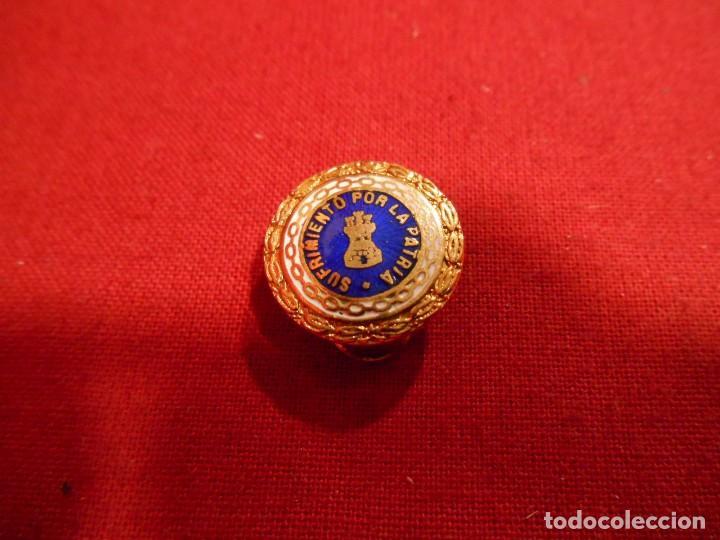 INSIGNIA MINIATURA - SUFRIMIENTO POR LA PATRIA - ESMALTADA - PARA SOLAPA (Militar - Medallas Españolas Originales )