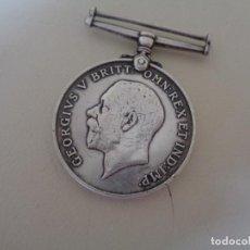 Militaria: MEDALLA EN PLATA INGLESA PRIMERA GUERRA MUNDIAL. Lote 95722923