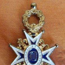 Militaria: MEDALLA INSIGNIA VERTUTI ET MERITO REAL ORDEN CARLOS III REPLICA. Lote 95818816